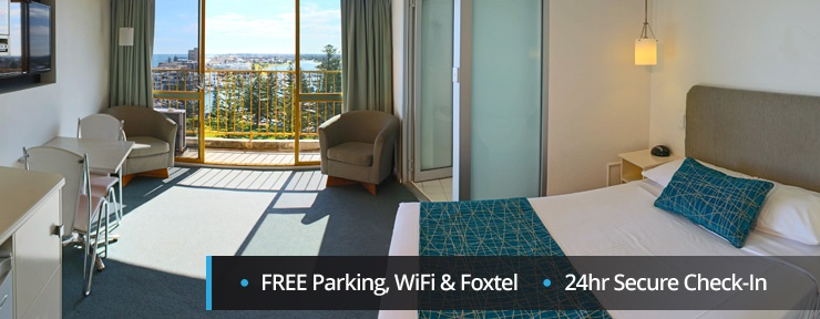 Free parking, WiFi and Foxtel, 24 hour secure check-in